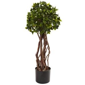 2.5' English Ivy Topiary UV Resistant (Indoor/Outdoor)