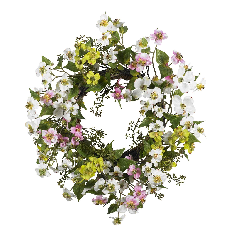 20 Dogwood Wreath Silk Specialties