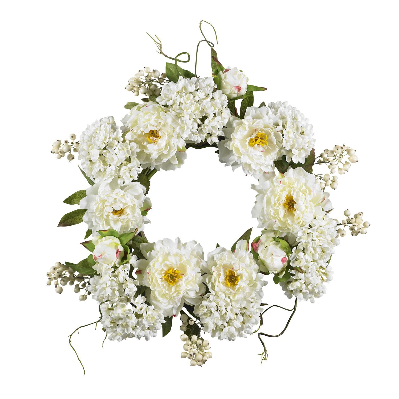 20 Peony Hydrangea Wreath Silk Specialties