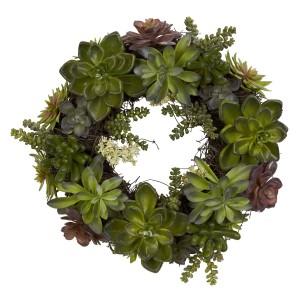 """20"""" Succulent Wreath"""