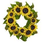 """22"""" Sunflower Wreath"""