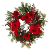 "24"" Amaryllis Wreath"