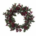 "24"" Holly Berry Wreath"