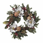 "24"" Magnolia Pinecone & Berry Wreath"