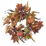 """24"""" Pumpkin & Berry Wreath"""