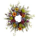 """24"""" Spring Garden Wreath w/Twig Base"""