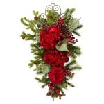 "27"" Christmas Hydrangea Teardrop"