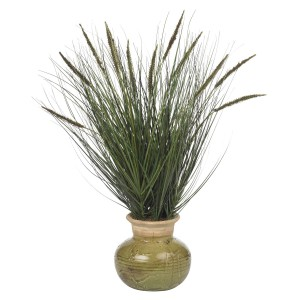 "27"" Grass w/Mini Cattails Silk Plant"