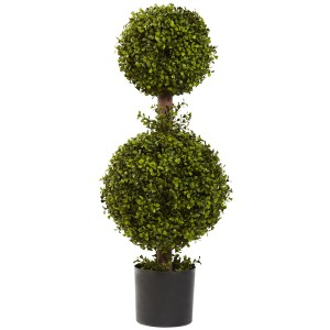 "35"" Double Boxwood Topiary"