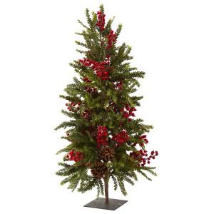 """36"""" Pine & Berry Christmas Tree"""