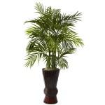 4' Areca w/Bamboo Planter