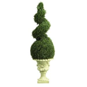 4' Cedar Spiral w/Decorative Vase (In-door/Out-door)