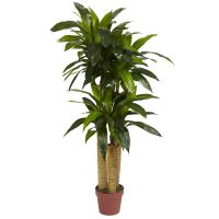 4' Corn Stalk Dracaena (Real Touch) Silk Plant