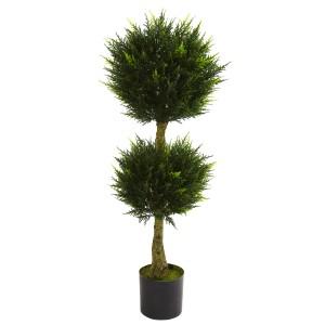 4' Double Ball Cypress Topiary UV Resistant (Indoor/Outdoor)