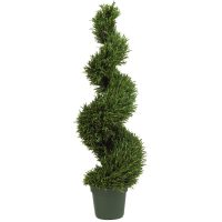 4' Rosemary Spiral Silk Tree (In-door/Out-door)