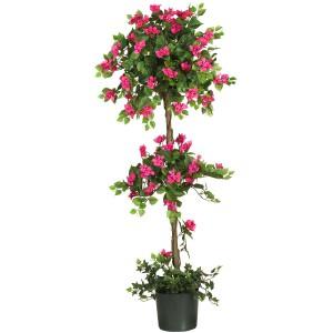 5' Mini Bougainvillea Topiary Silk Tree