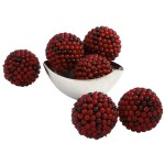 """5"""" Red Berry Ball (Set of 6)"""