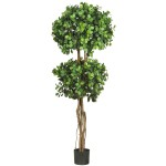 5.5' Eucalyptus Double Ball Topiary Silk Tree