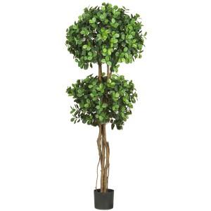 5.5' Eucalyptus Double Ball Topiary Silk Tree