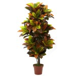 """56"""" Croton Plant (Real Touch)"""