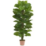 """63"""" Large Leaf Philodendron Silk Plant (Real Touch)"""