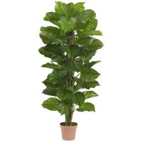 "63"" Large Leaf Philodendron Silk Plant (Real Touch)"
