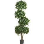 "69"" Sweet Bay Topiary w/4 Balls Silk Tree"