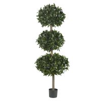 "69"" Sweet Bay Triple Ball Silk Tree"