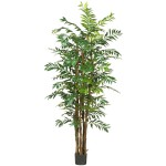 7' Bamboo Palm Silk Tree