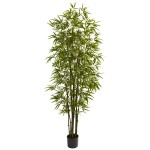 7' Green Bamboo Tree