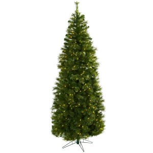 7.5' Cashmere Slim Christmas Tree w/Clear Lights