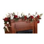 "72"" Hydrangea w/White Roses Garland"