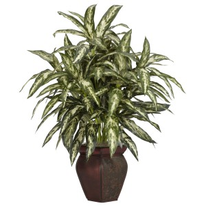 Aglaonema w/Decorative Vase Silk Plant