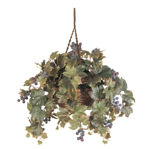 All Season Grape Leaf Hanging Basket Silk Plant