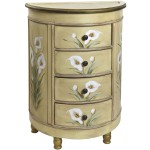 Antique Accessory Table w/Calla Lily Floral Art
