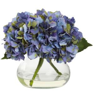 Blooming Hydrangea w/Vase