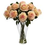 Blooming Roses w/Vase