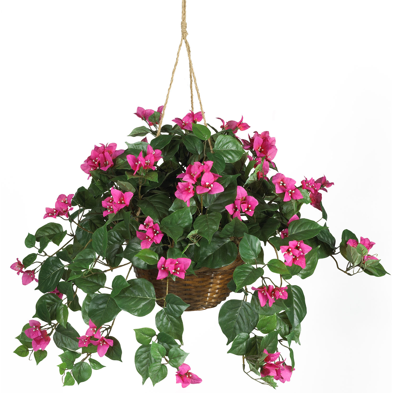 Bougainvillea silk hanging basket silk specialties bougainvillea silk hanging basket mightylinksfo