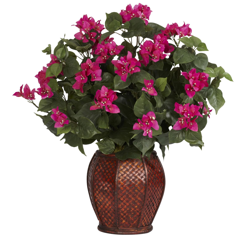 bougainvillea w/vase silk plant - silk specialties