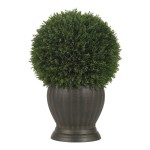 Cedar Ball Topiary Silk Plant