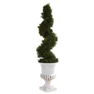 Cedar Spiral w/Urn (Indoor/Outdoor)