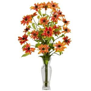 Cosmos w/Vase Silk Flower Arrangement