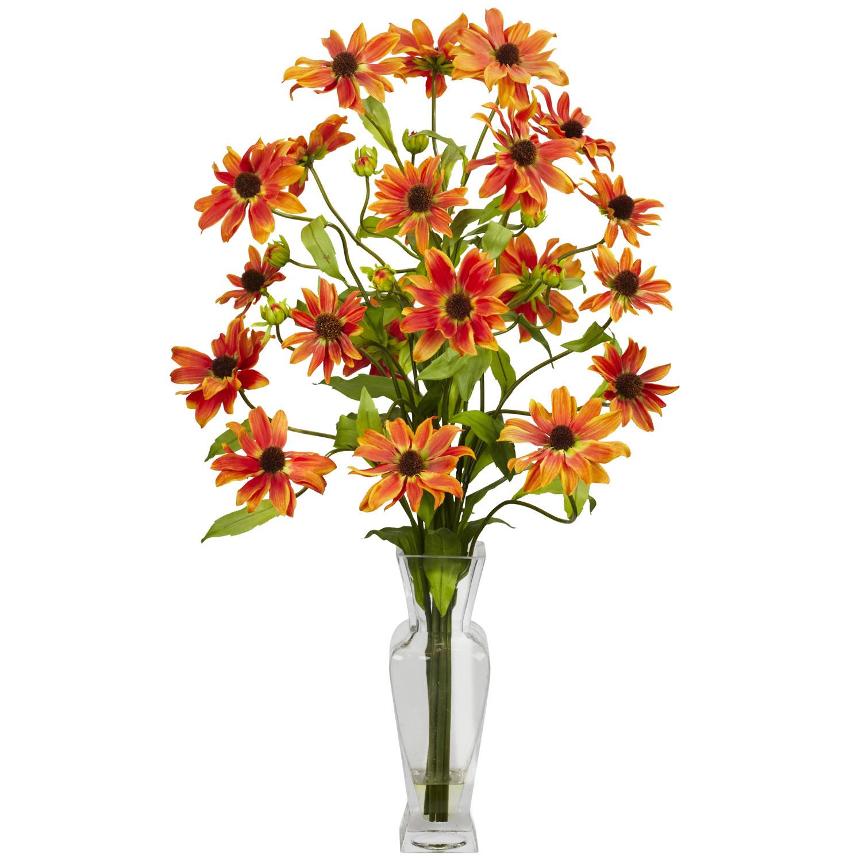 Cosmos wvase silk flower arrangement silk specialties cosmos wvase silk flower arrangement mightylinksfo