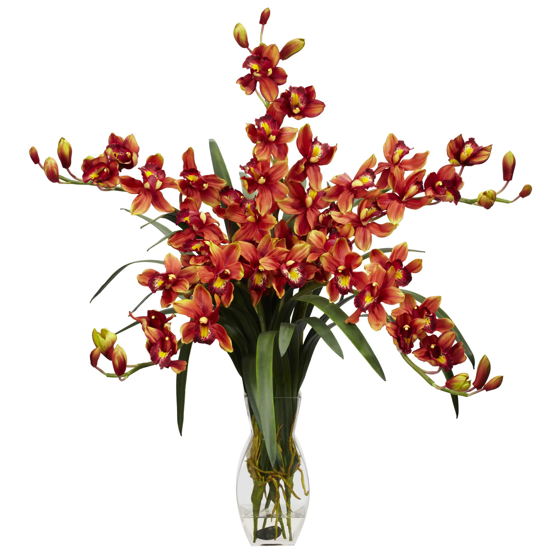 Cymbidium orchid silk flower arrangement silk specialties cymbidium orchid silk flower arrangement mightylinksfo