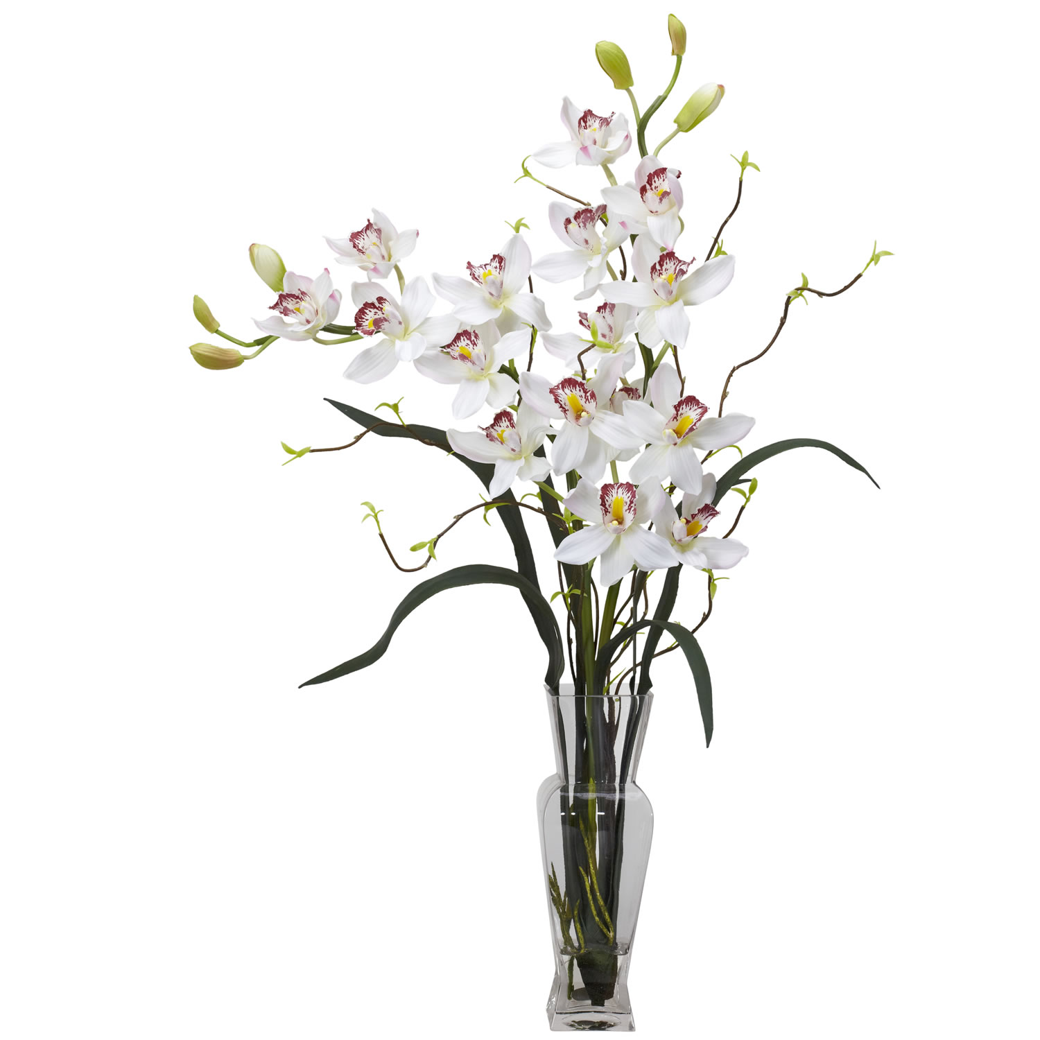 Cymbidium silk flower arrangement silk specialties cymbidium silk flower arrangement mightylinksfo