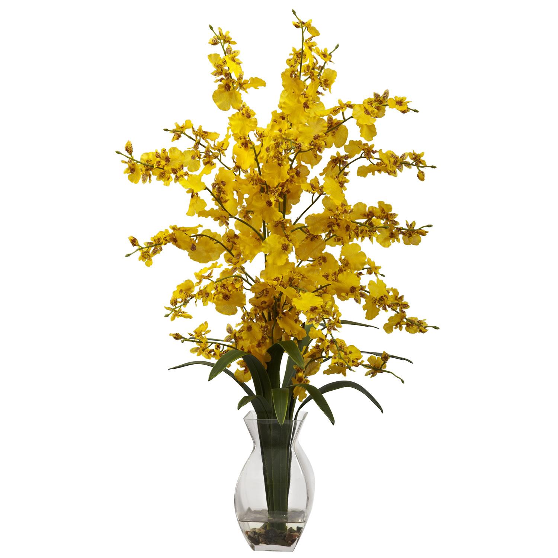 Dancing lady orchid wvase arrangement silk specialties dancing lady orchid wvase arrangement mightylinksfo