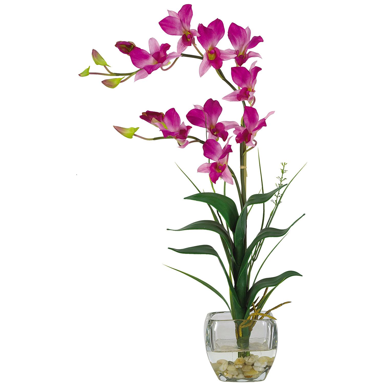 Dendrobium Liquid Illusion Silk Flower Arrangement Silk Specialties
