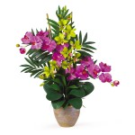 Double Phal/Dendrobium Silk Orchid Arrangement