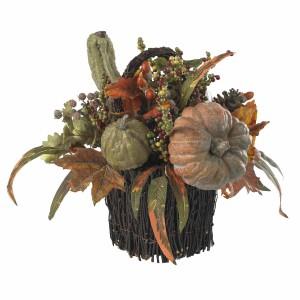 Fall Pumpkin & Berry Table Arrangement
