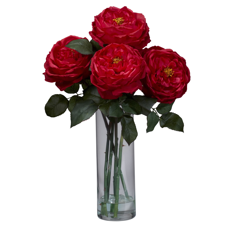 Fancy rose wcylinder vase silk flower arrangement silk specialties fancy rose wcylinder vase silk flower arrangement mightylinksfo